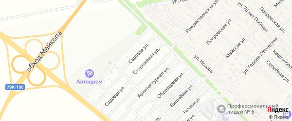 Сторожевая улица на карте садового некоммерческого товарищества Садовода-1 с номерами домов