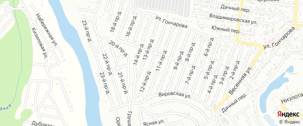 12-й проезд на карте Весны с номерами домов