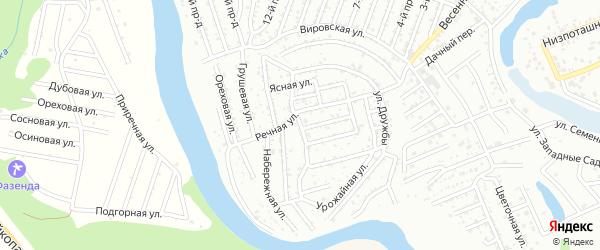 Цветочная улица на карте Дружбы с номерами домов