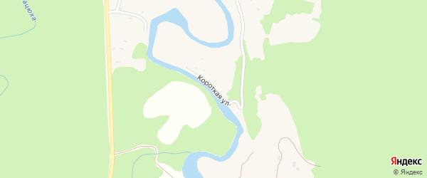 Короткая улица на карте Курджипской станицы Адыгеи с номерами домов