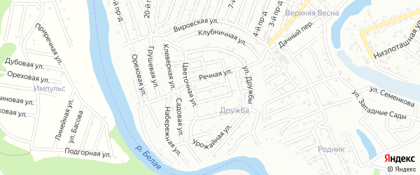 Нижняя улица на карте Яблоньки с номерами домов