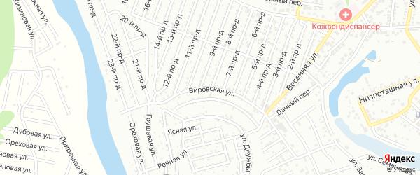 Вировская улица на карте Дружбы с номерами домов