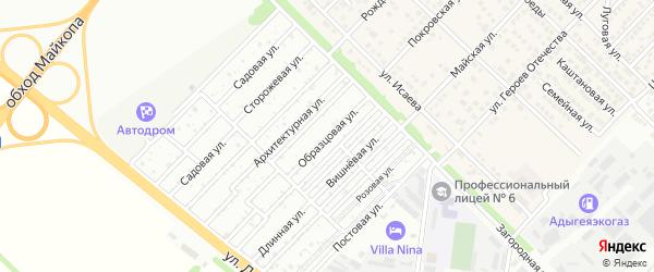 Образцовая улица на карте Звезды с номерами домов