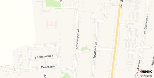 Стрелецкая улица в Ряжске с номерами домов на карте. Спутник и схема онлайн