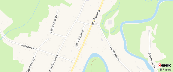 Улица Ленина на карте Курджипской станицы Адыгеи с номерами домов