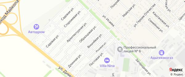 Клубничная улица на карте Звезды с номерами домов