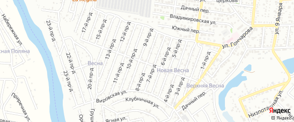 8-й проезд на карте Восхода с номерами домов