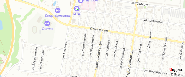 Улица Фурманова на карте Майкопа с номерами домов