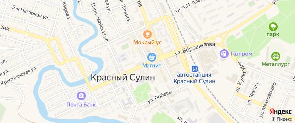 Улица Ленина на карте Красного Сулина с номерами домов