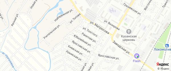 Ракетная улица на карте Новочеркасска с номерами домов