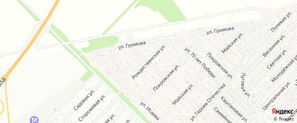 Рождественская улица на карте Западного поселка с номерами домов