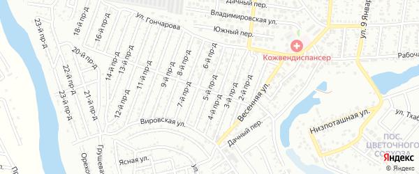5-й проезд на карте садового некоммерческого товарищества Проектировщика с номерами домов
