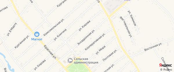 Эскадронная улица на карте Гиагинской станицы Адыгеи с номерами домов