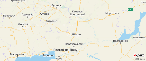Карта Красносулинского района Ростовской области с городами и населенными пунктами