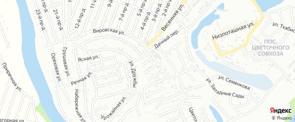 Тупиковая улица на карте Озерного с номерами домов