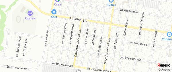 Улица Чапаева на карте Майкопа с номерами домов