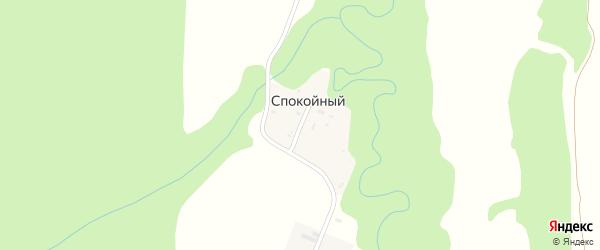 Лесная улица на карте Спокойного поселка Адыгеи с номерами домов