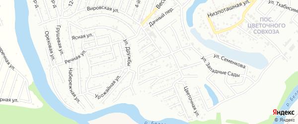 Склоковская улица на карте Дружбы с номерами домов