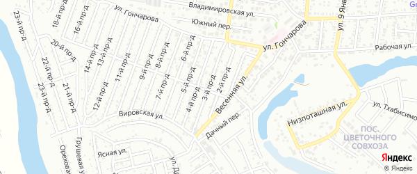 3-й проезд на карте Весны с номерами домов