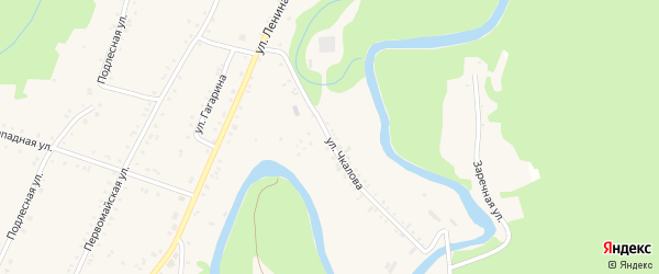 Улица Чкалова на карте Курджипской станицы Адыгеи с номерами домов
