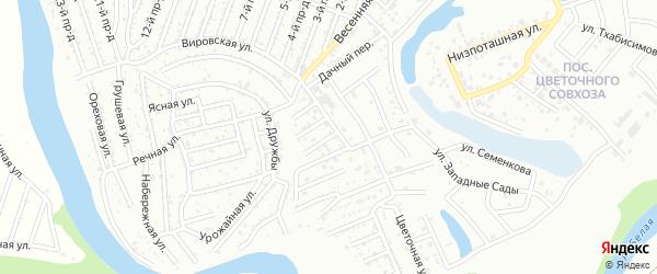 Совхозная улица на карте Майкопа с номерами домов