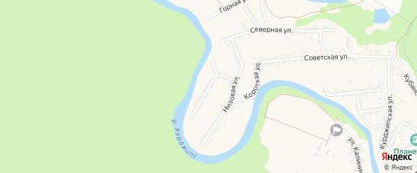 Набережная улица на карте Краснооктябрьского поселка Адыгеи с номерами домов