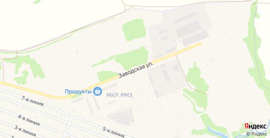 Заводская улица в Кораблино с номерами домов на карте. Спутник и схема онлайн