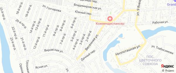 2-й проезд на карте Весны с номерами домов