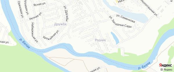 Вузовская улица на карте Сада с номерами домов