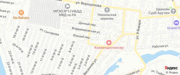 Южная улица на карте Восхода с номерами домов