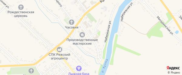 Улица Пушкина на карте Ряжска с номерами домов
