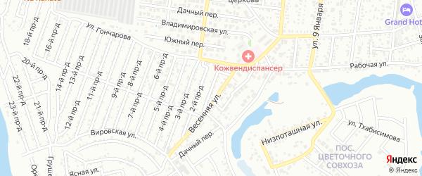 1-й проезд на карте Восхода с номерами домов