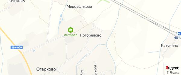 Карта деревни Погорелово (Подлесное МО) в Вологодской области с улицами и номерами домов