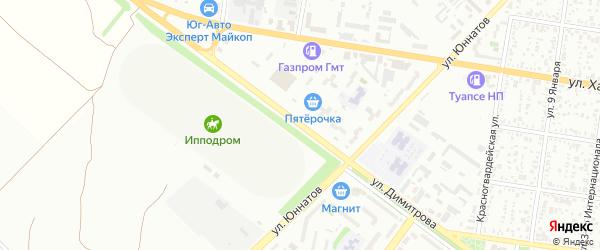 Улица Димитрова на карте Майкопа с номерами домов