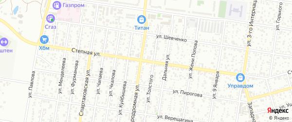 Степная улица на карте Майкопа с номерами домов
