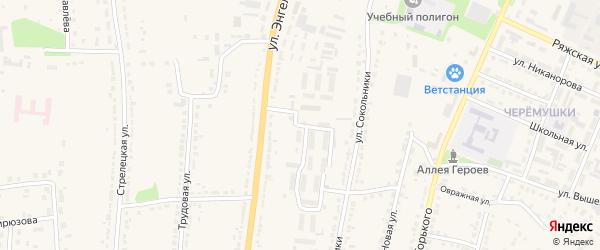 Улица Строителей на карте Ряжска с номерами домов