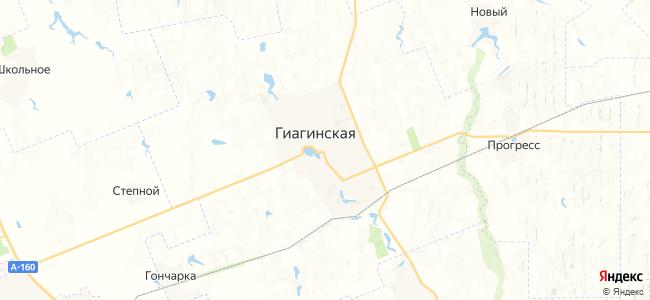 Гиагинская на карте