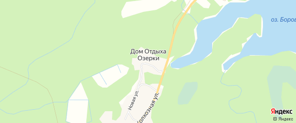 Карта деревни Дом отдыха Озерки в Архангельской области с улицами и номерами домов
