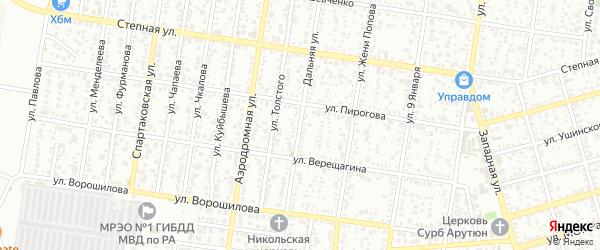 Дальняя улица на карте садового некоммерческого товарищества Птицевода с номерами домов