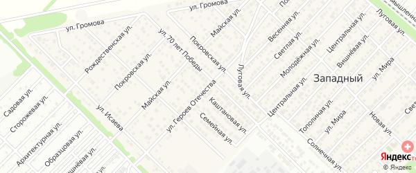 Улица Героев Отечества на карте Западного поселка с номерами домов