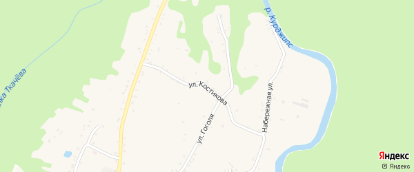 Улица Костикова на карте Курджипской станицы Адыгеи с номерами домов