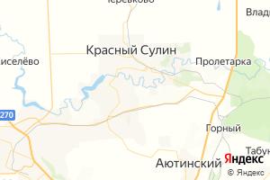 Карта г. Красный Сулин Ростовская область