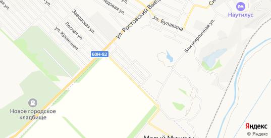 Карта поселка Политехник в Новочеркасске с улицами, домами и почтовыми отделениями со спутника онлайн