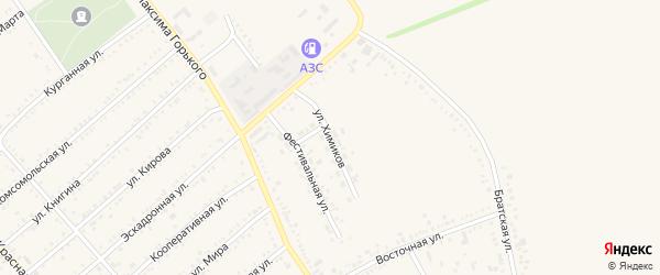 Улица Химиков на карте Гиагинской станицы Адыгеи с номерами домов