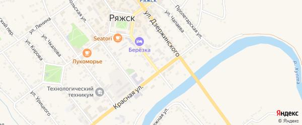 Советская улица на карте Ряжска с номерами домов