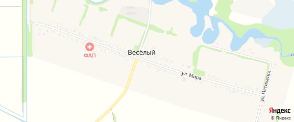 Улица Мира на карте Веселого хутора Адыгеи с номерами домов