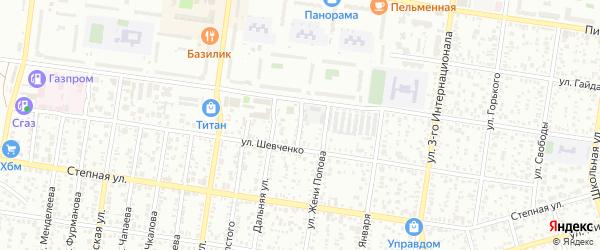 Переулок Шевченко на карте Майкопа с номерами домов