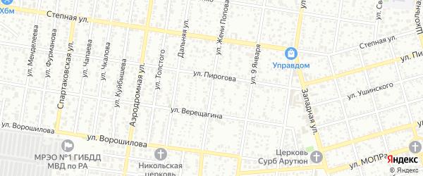 Улица Ж.Попова на карте Майкопа с номерами домов