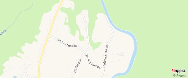 Набережная улица на карте Курджипской станицы Адыгеи с номерами домов