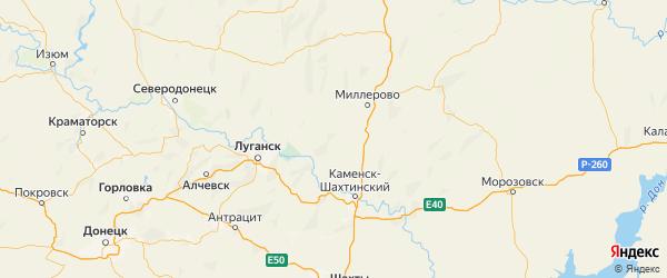 Карта Тарасовского района Ростовской области с городами и населенными пунктами